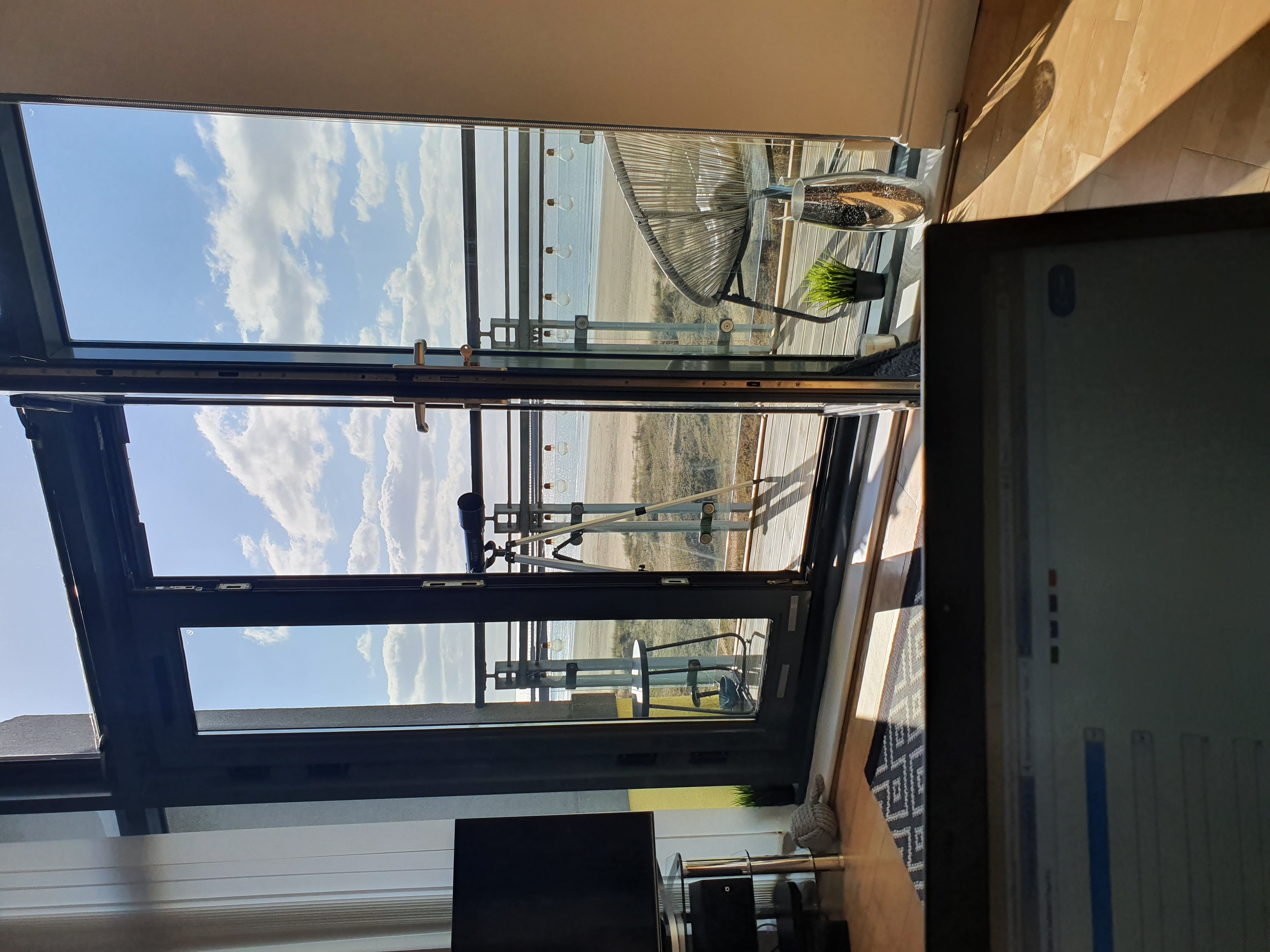 remote working from home calm sea balcony view dream