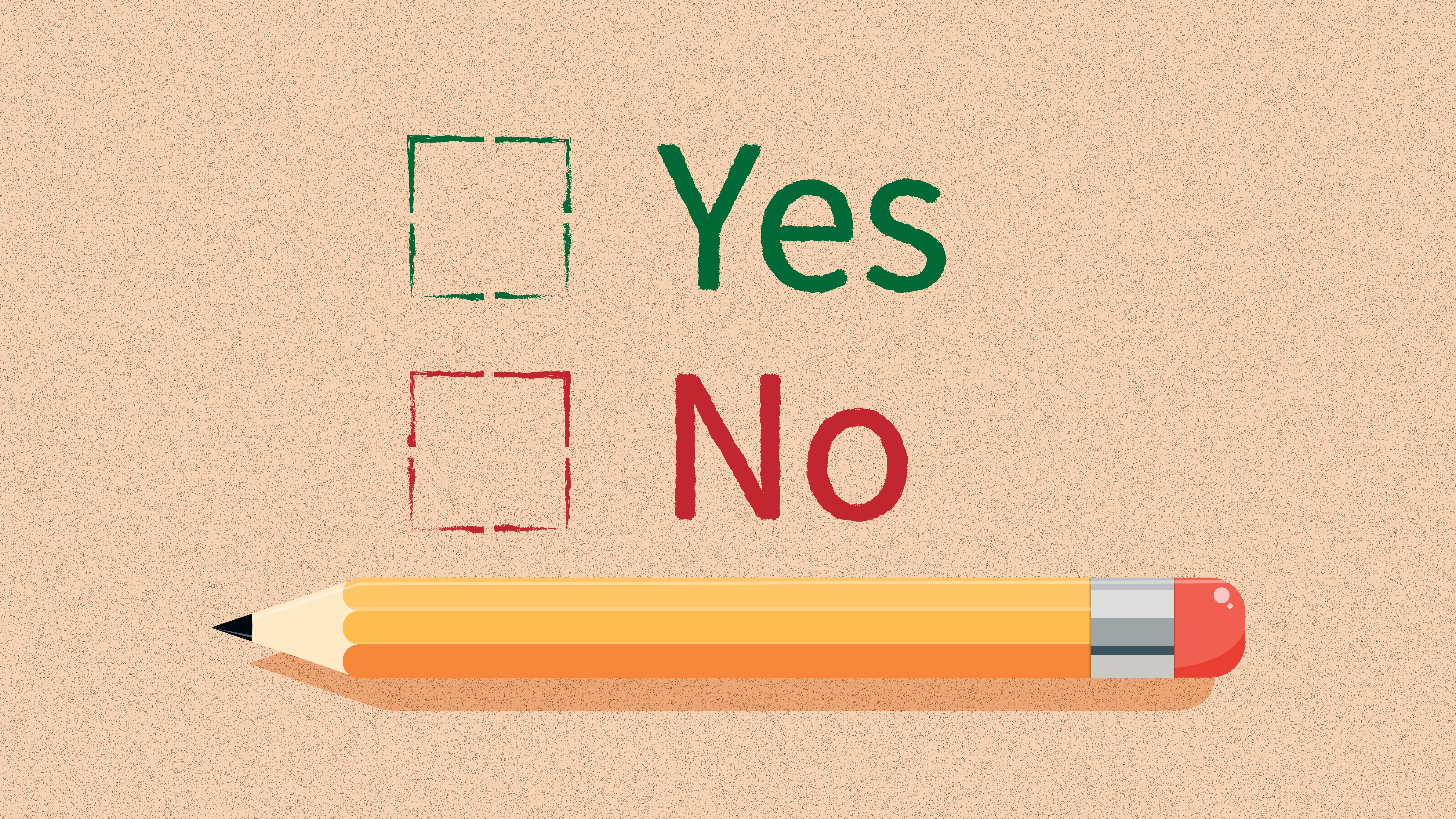 Yes or No checkboxes