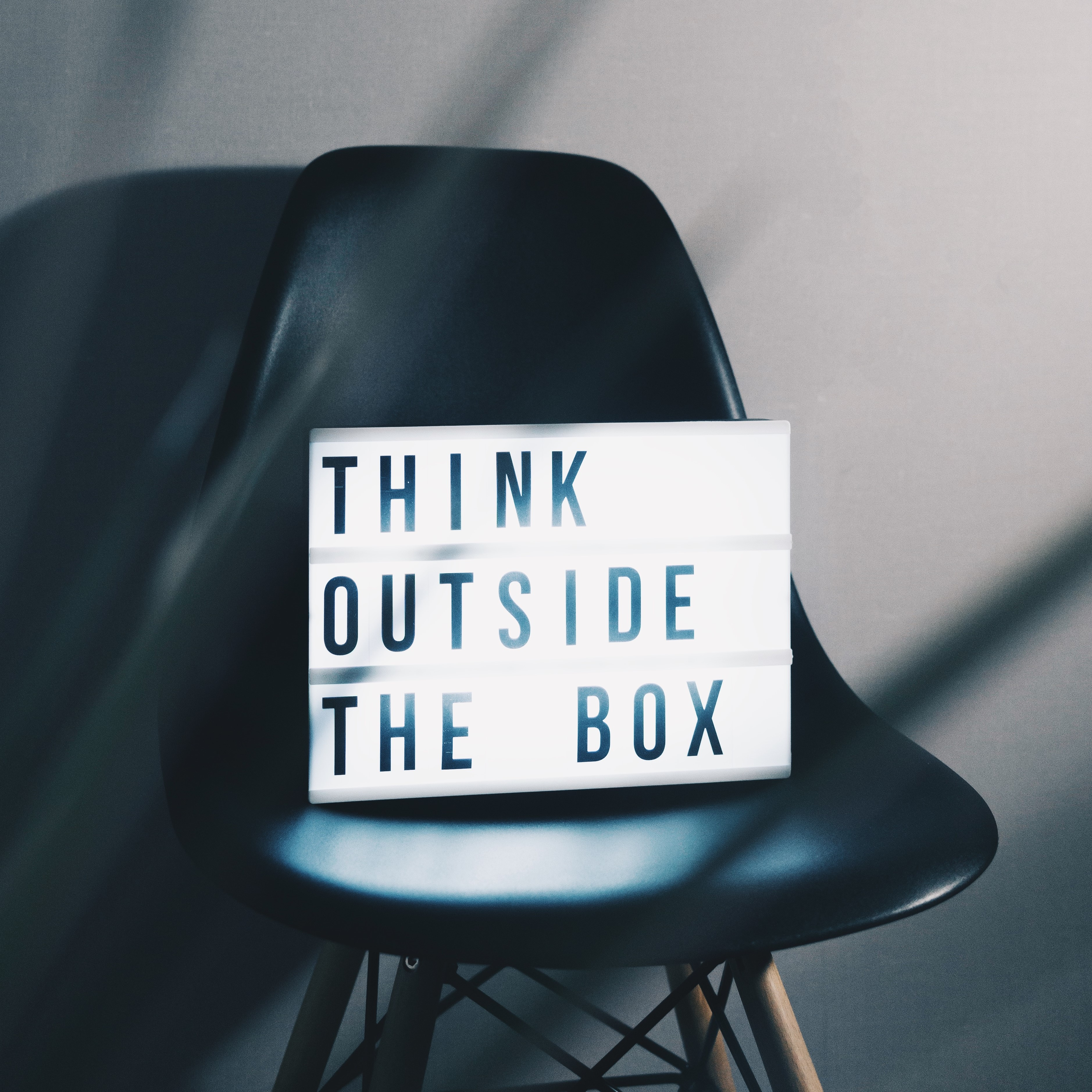 Thin outside the box chair innovative thinking